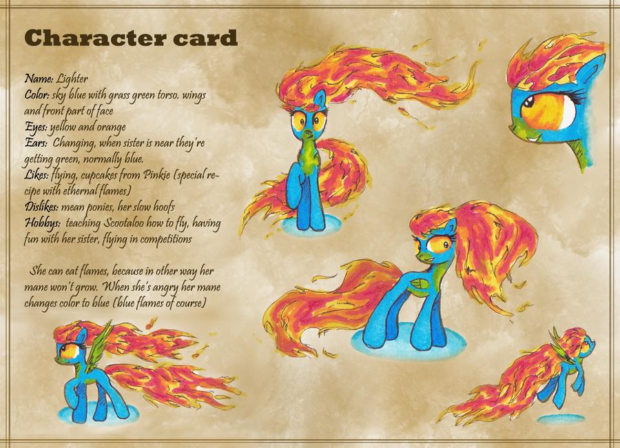 Lighter character card by KairaAnix