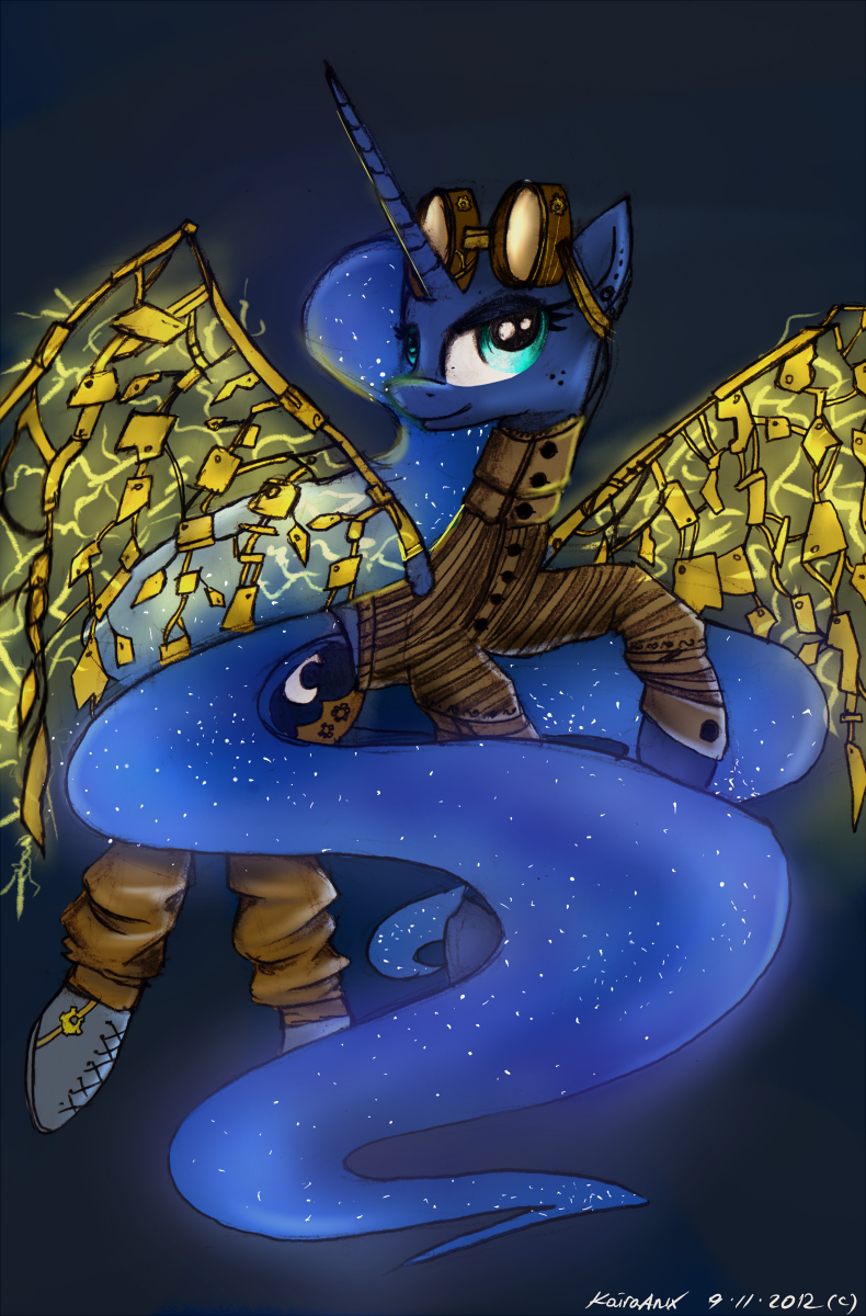 Steampunk Luna by KairaAnix
