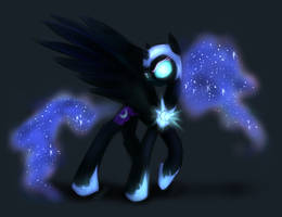 Sketchy Nightmare Moon by KairaAnix