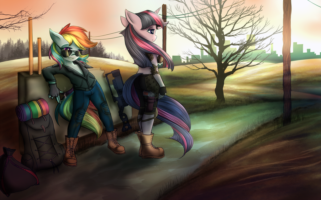 Waiting for the ride by KairaAnix