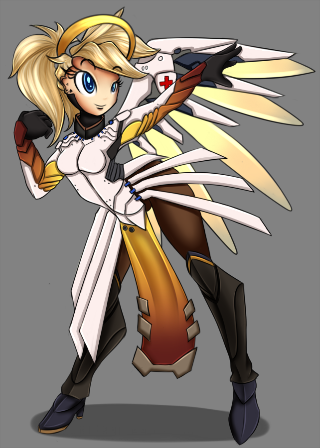 Mercy - Overwatch by KairaAnix