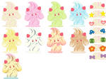 all alcremie forms and sweets base by DMG 132