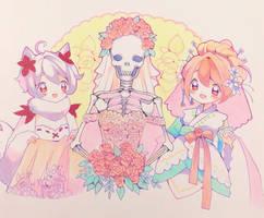 Aninktober day 13 - Bones by ShiiroHana