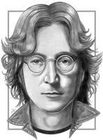 John Lennon Sketch by NicksPencil