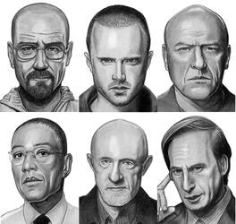 Breaking Bad ACEO Art Cards by NicksPencil