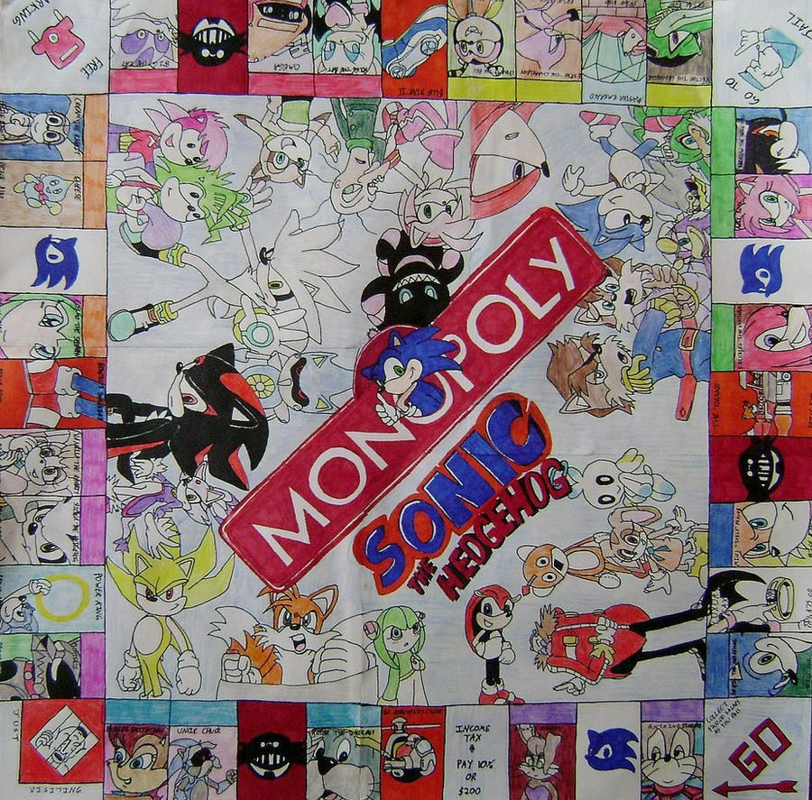 Sonic the Hedgehog Monopoly by TeamOf1