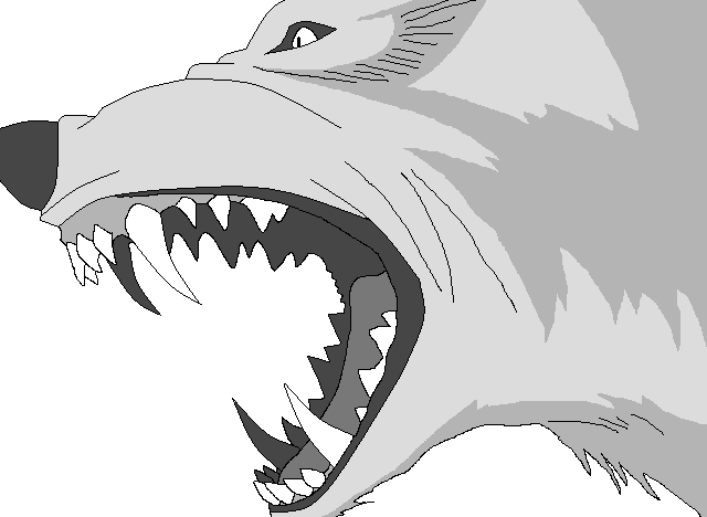 wolf growl base 3 by WhiteWolfCrisis13