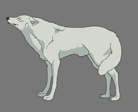 Wolf lineart! by WhiteWolfCrisis13