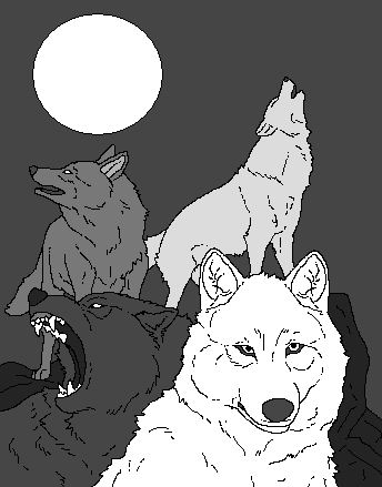 Four Wolves and the Moon (base) by WhiteWolfCrisis13