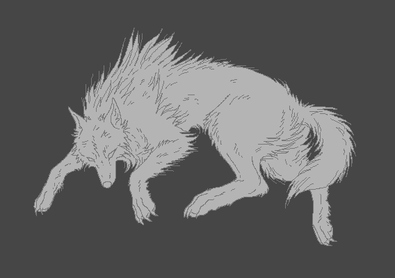 Gray Wolf Lineart by WhiteWolfCrisis13