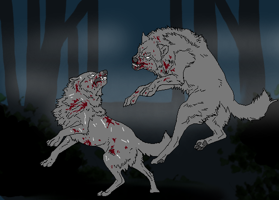 Fighting Wolves by TheSodaSmuggler