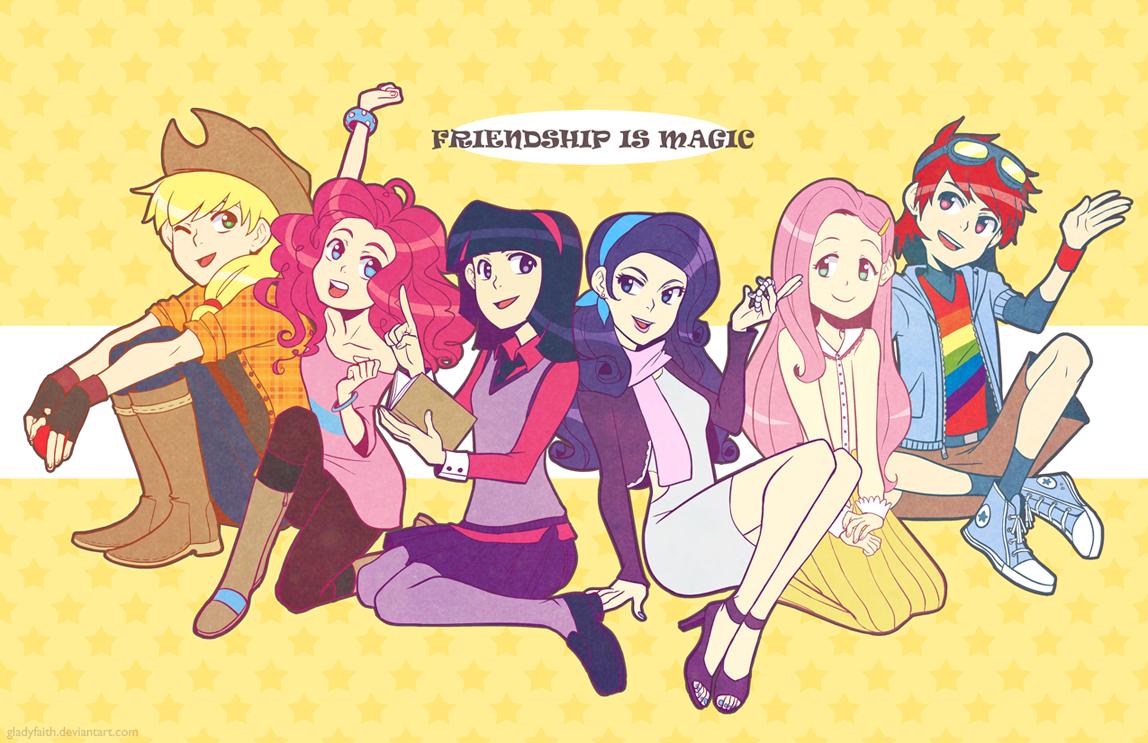 My Little Pony : Friendship is Magic gijinkas by gladyfaith