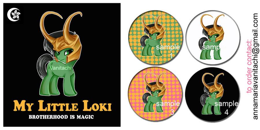 +My Little Loki Badges by vanitachi