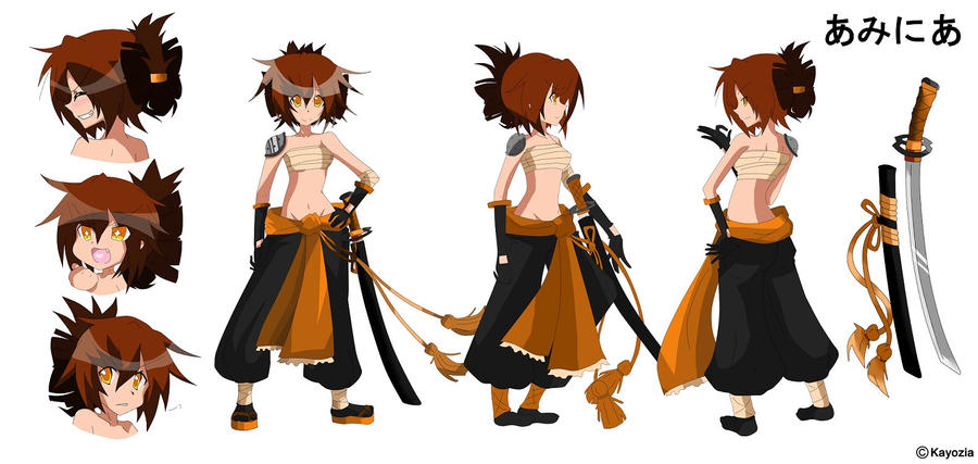 The Art Of Character Design Volume I : Character design sheet amnia by kayozia on deviantart