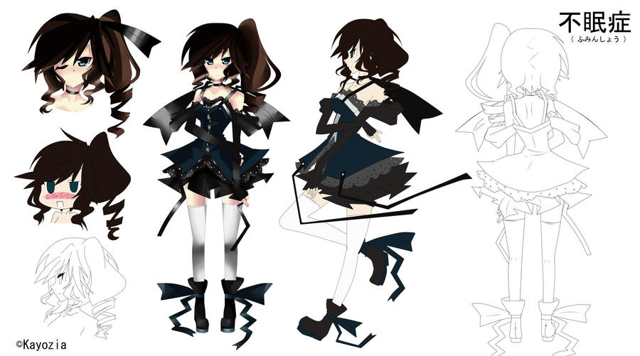 Good Character Design In Anime : Character design sheet insomnia by kayozia on deviantart