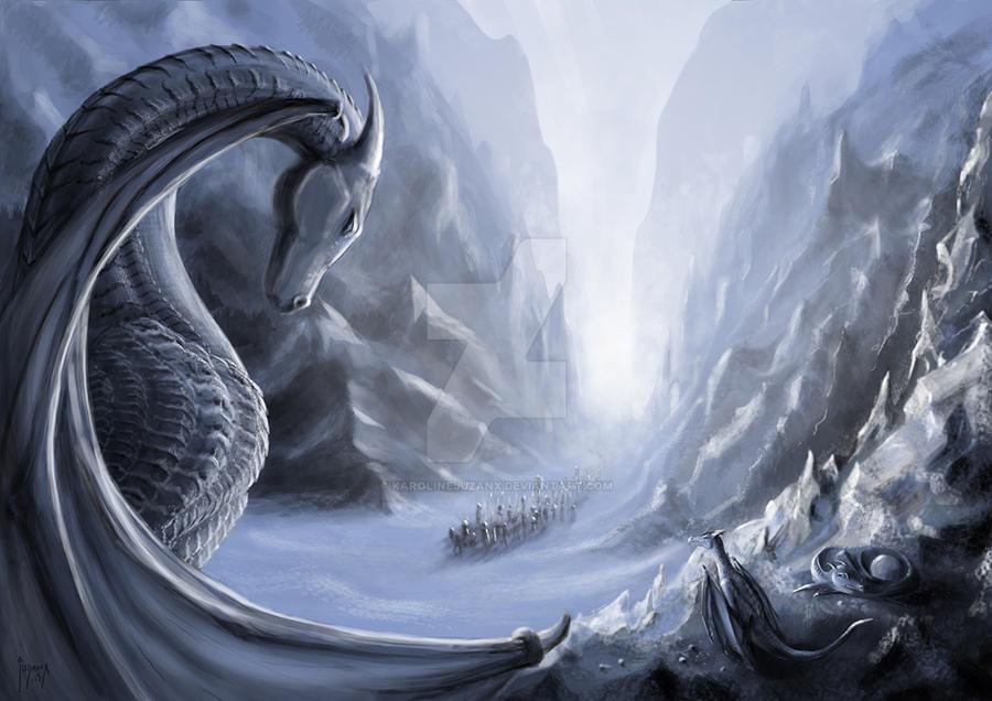 Ice Dragon by KarolineJuzanx