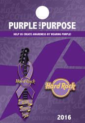 #PurpleForAPurpose Hard Rock Hotel Pin