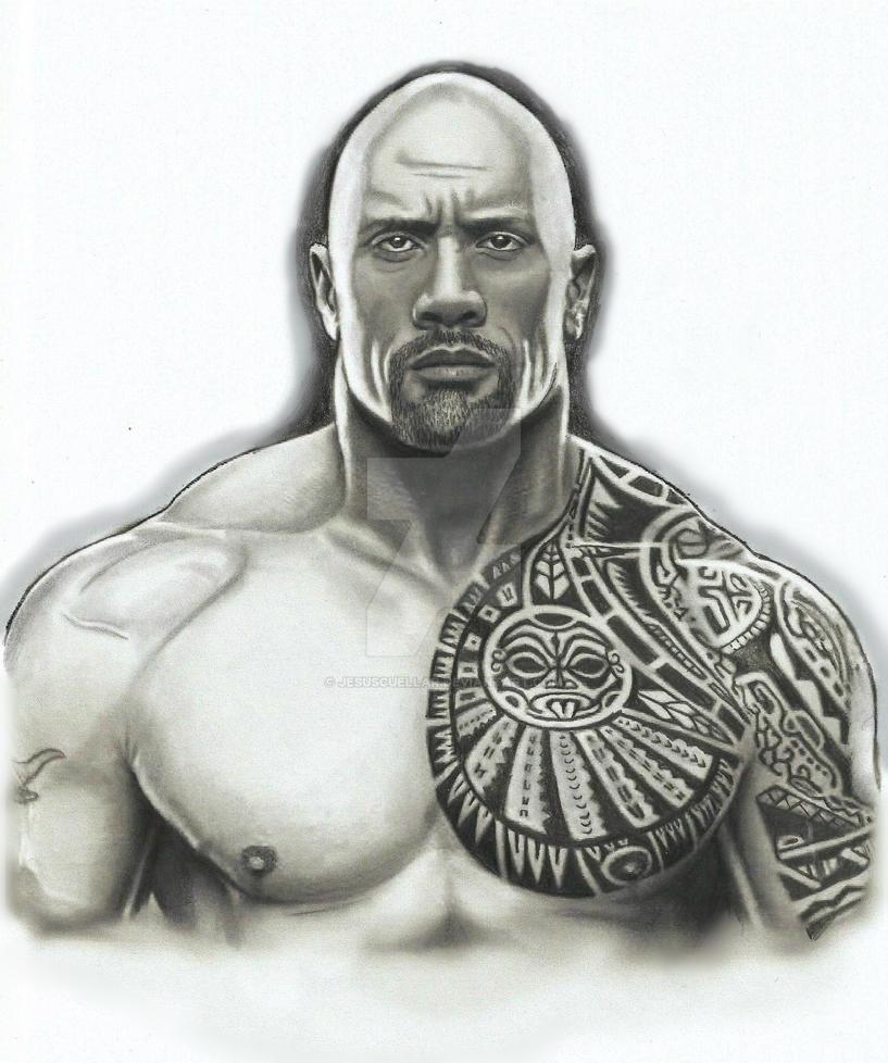 THE ROCK, dwayne johnson Drawing by JesusCuellar