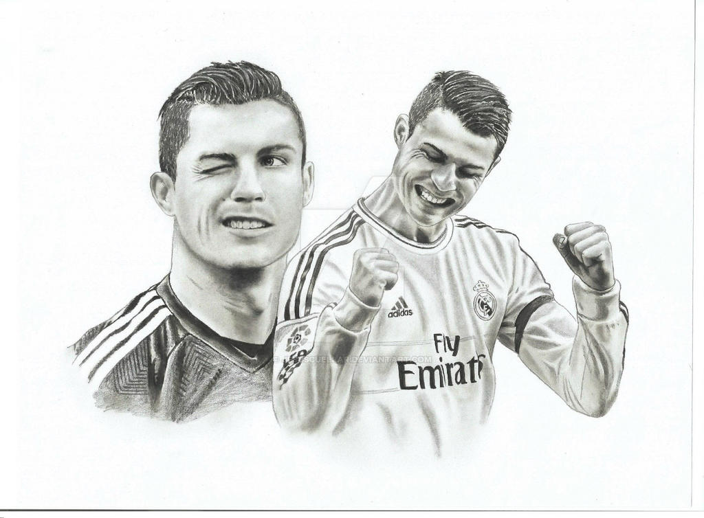 Cristiano Ronaldo Drawing by JesusCuellar
