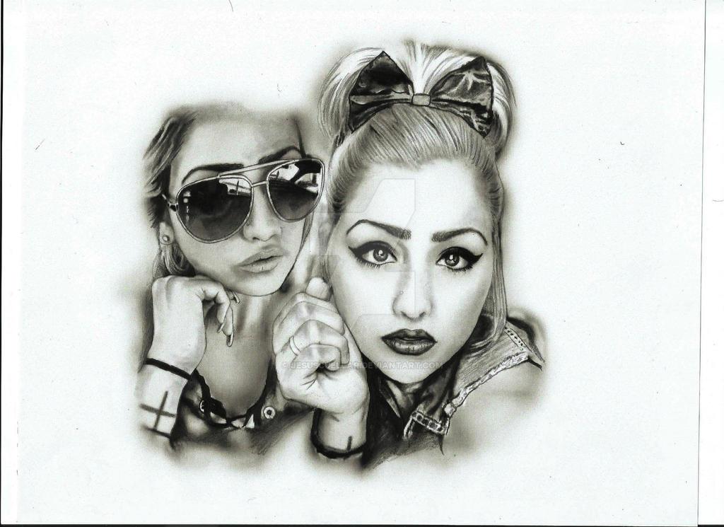 Yessica pencil portrait by JesusCuellar