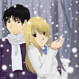 Royai in the Snow by Ari-Chu by Royai4ever