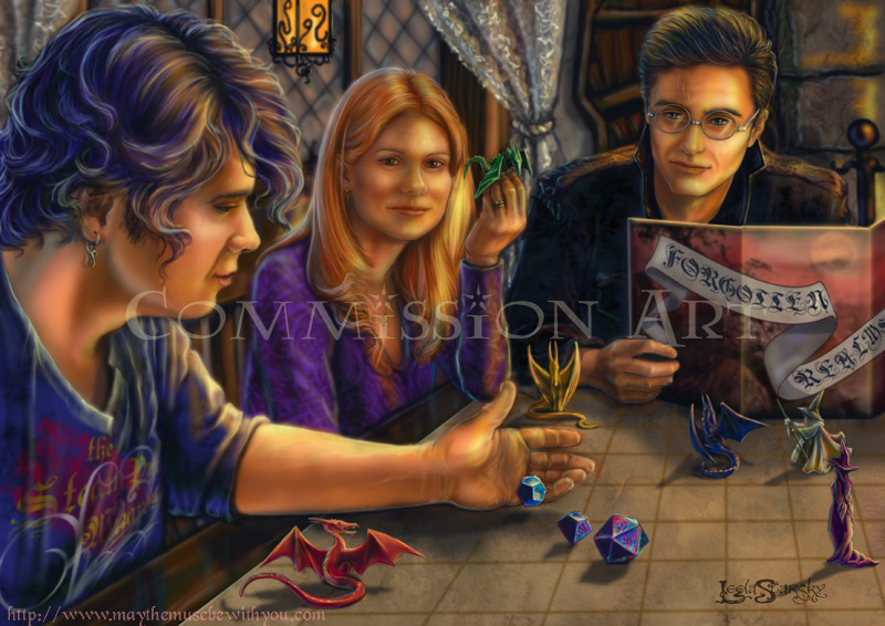 Même à Hogwarts, on joue à Dungeons & Dragons ... Playing_Dungeons_and_Dragons__by_leelastarsky