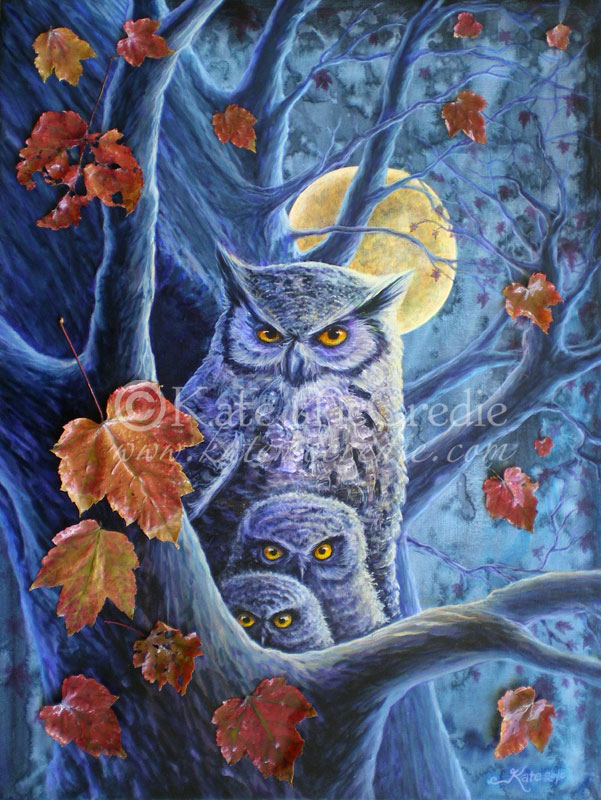 Harvest Moon Owls. by leelastarsky