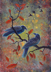 Autumn Ravens. by leelastarsky