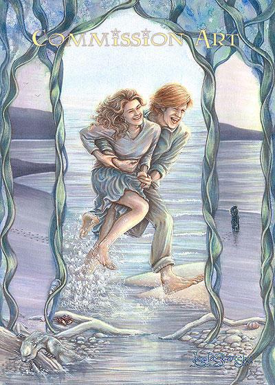Honeymoon on an Ayrshire beach by leelastarsky