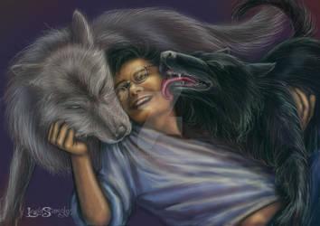 Moony, Harry and Padfoot. by leelastarsky