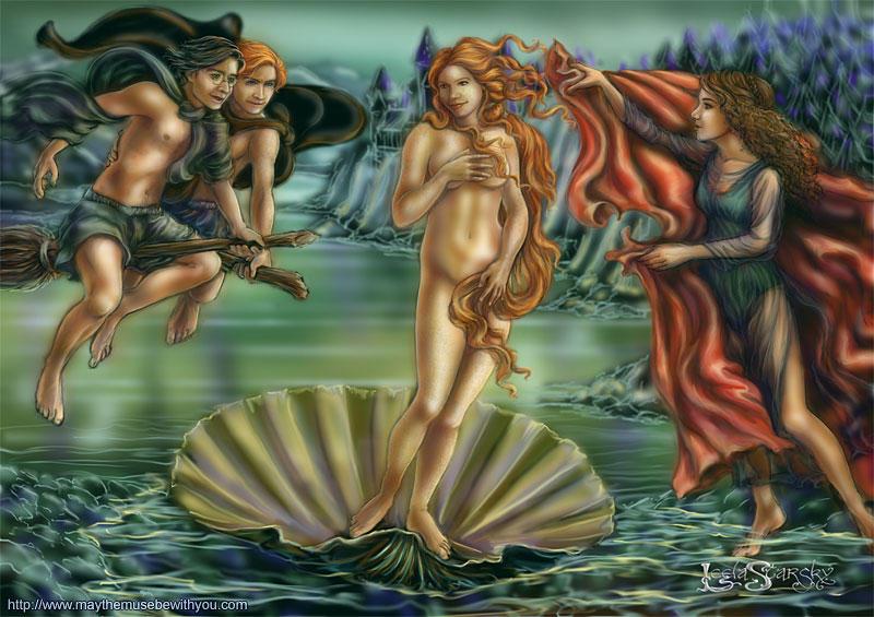 Harry Potter 'Birth of Venus' by leelastarsky