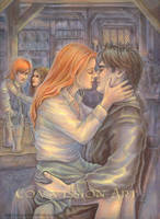 Harry and Ginny in the Leaky C by leelastarsky
