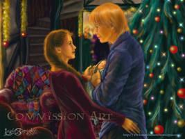 Christmas at the Burrow. by leelastarsky