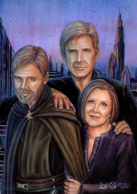 Older Star Wars Trio by leelastarsky