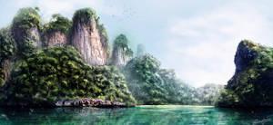 Jungle cliffs
