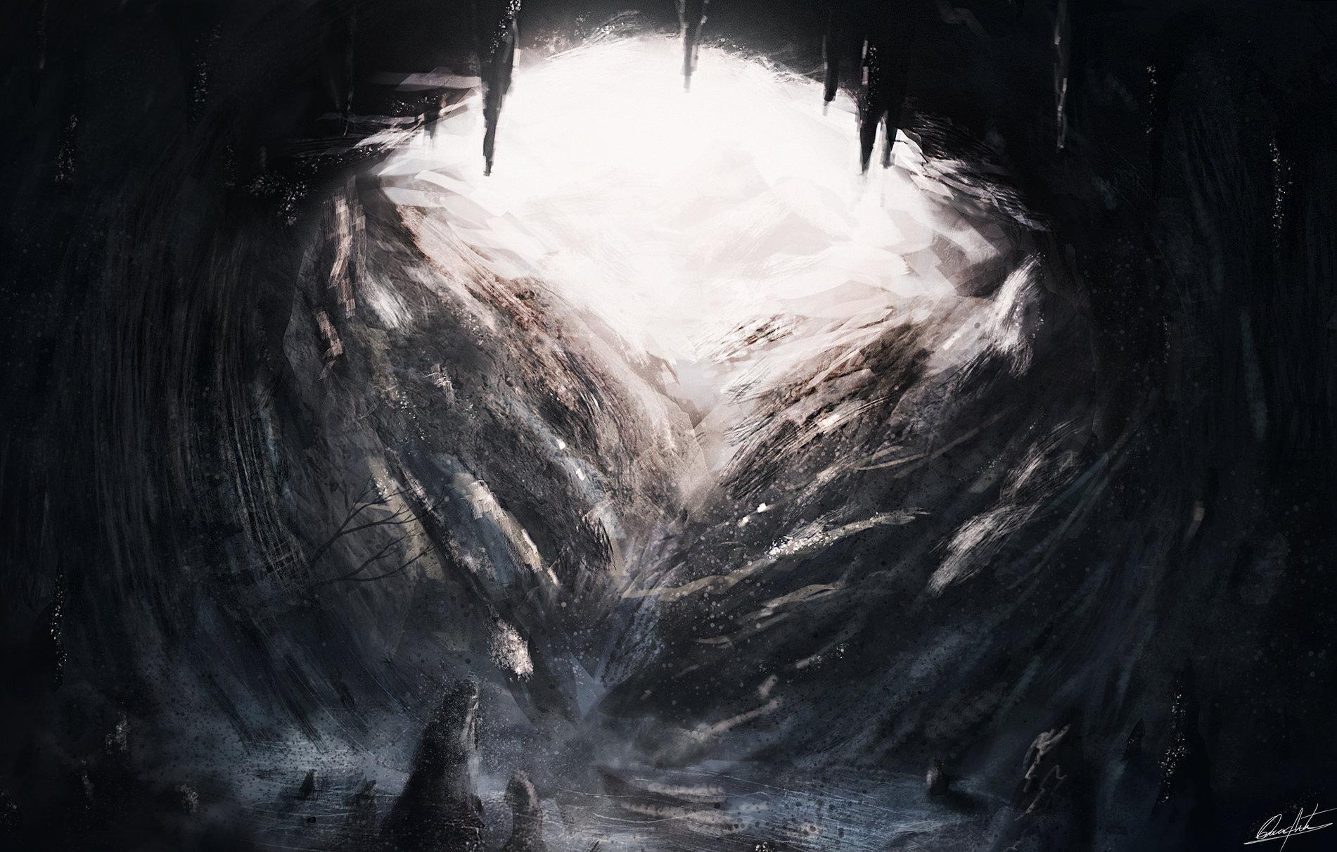 Cavern exit (speedpaint)