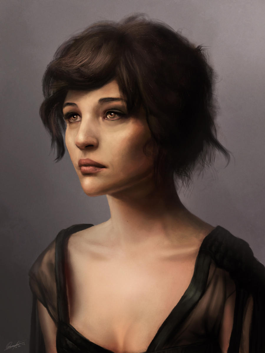It is a photo of Astounding Woman Portrait Drawing