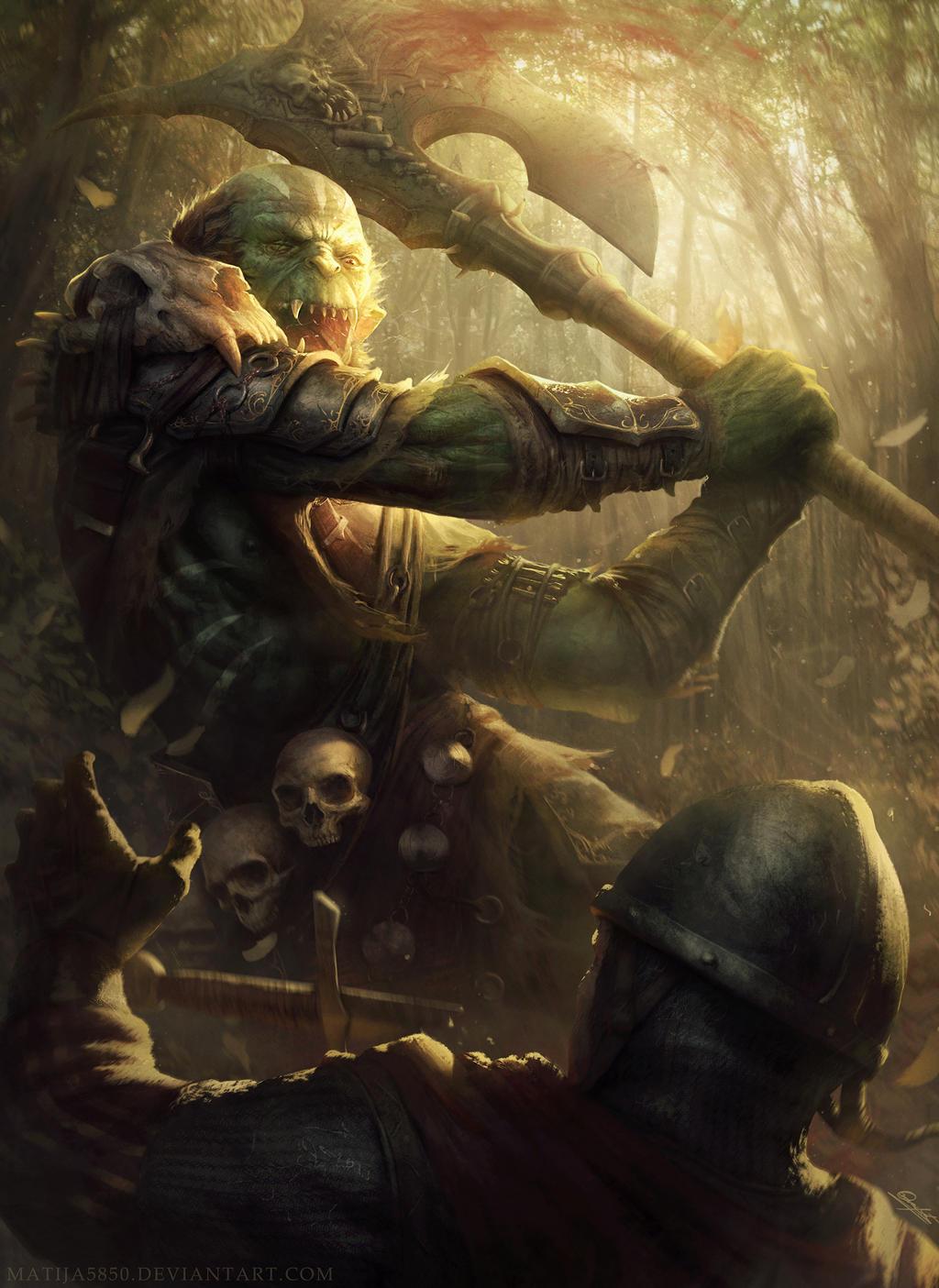 Orc warlord by Matija5850
