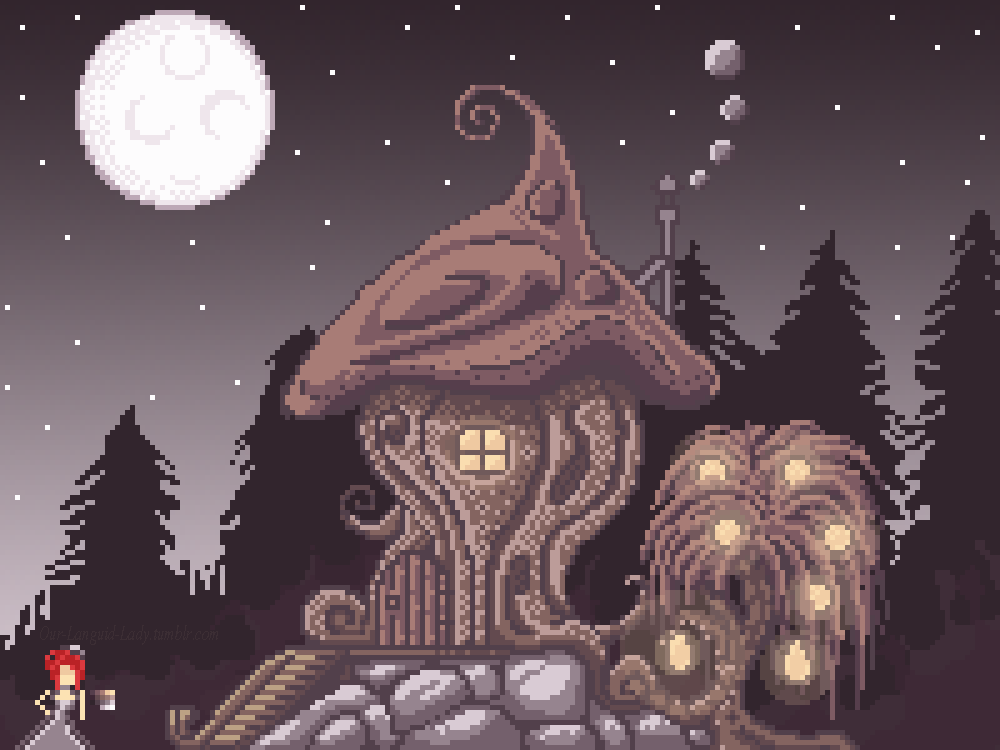 Mushroom House by LadyLanguid