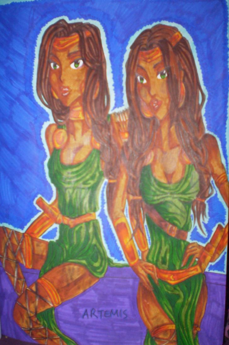 Artemis goddess by Vampirescurse12