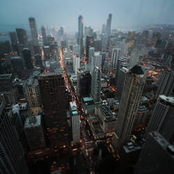 Chicago in rain by CatchMe-22