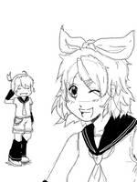 Rin and Len .u. by Koi-Suru-Kokoro