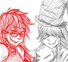 KS: Grell + Undertaker collab by Koi-Suru-Kokoro
