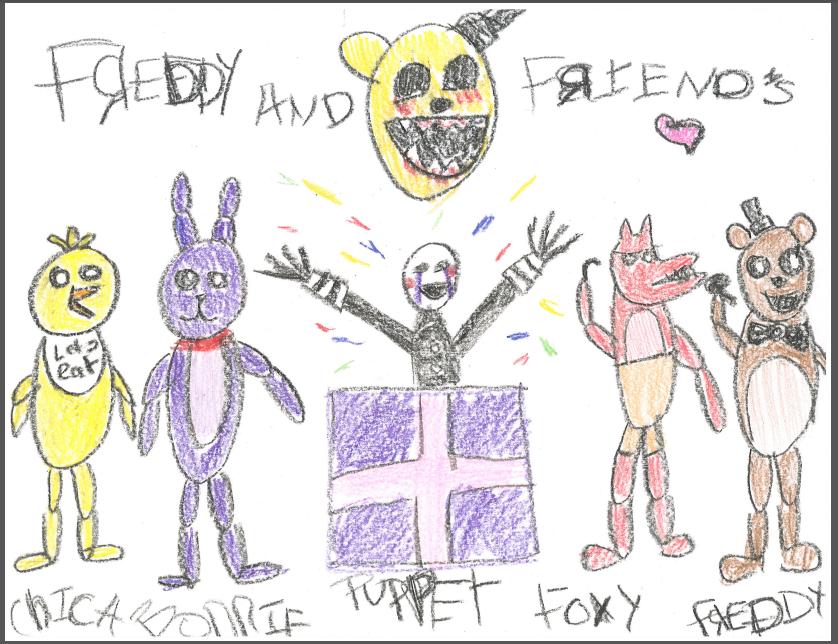 Five Nights at Freddys Kid Drawing by SekhmetShadow13 on DeviantArt