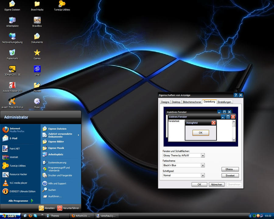 Скачать темы черные темы windows xp