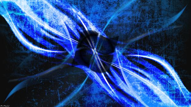 Scratch vs. Lighting Windows Wallpaper U-HD [Blue]