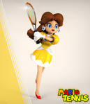 Classic Daisy Tennis outfit render