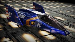 Blue Falcon render 4K