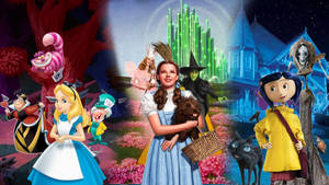 Alice in Wonderland Wizard of Oz Coarline Poster