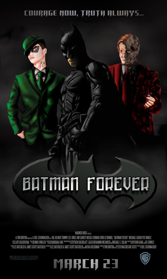 Batman Forever Movie Poster by NinjaSoulreaper27 on DeviantArt